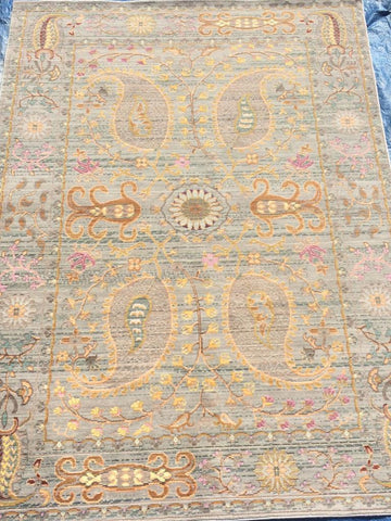 Gray Polyester Area Rug Made in Turkey