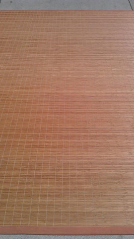 Tan Bamboo Wood Area Rug Made in China - Intl. Rug Depot