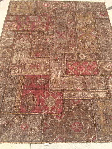 Brown Polyester Shag Cotton Backing Area Rug Made in India - Intl. Rug Depot