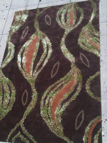 Brown Acrylic Shag Area Rug Made in China - Intl. Rug Depot