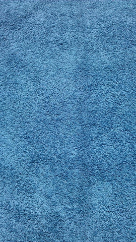 Blue Polyester Shag Chenille Cotton Backing Area Rug Made in China