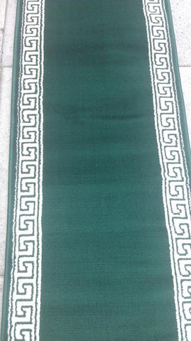 Green Polyester Area Rug Made in Turkey