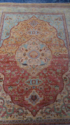 Orange Red Polyester Area Rug Made in Unknown - Intl. Rug Depot