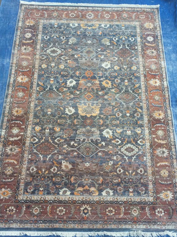 Blue Polyester Area Rug Made in Turkey - Intl. Rug Depot