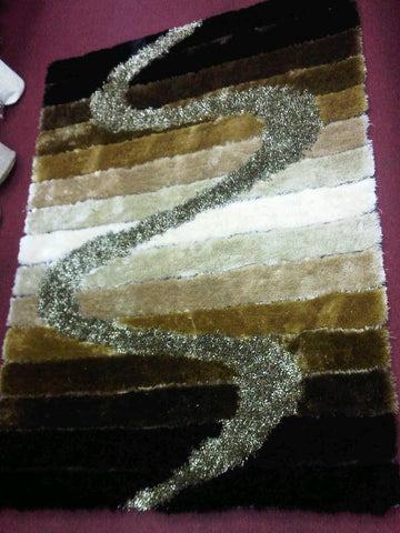 Brown Cotton Backing Viscose Area Rug Made in China - Intl. Rug Depot