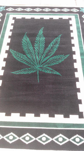 Black Polyester Area Rug Made in Turkey