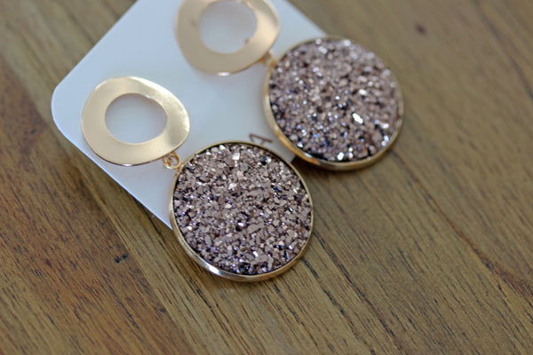 Bedazzle Me Drops in Bronze