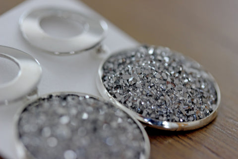 Bedazzle Me Drops in Silver