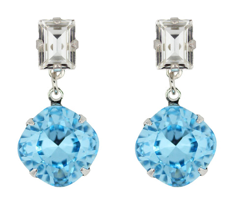 Classic Solitaire Drops in Aqua and Crystal