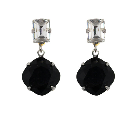 Classic Solitaire Drops in Black and Silver