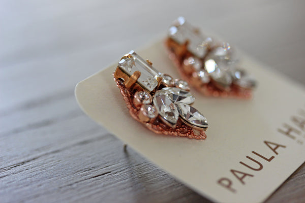 Floral Delights in Rose Gold and Crystal