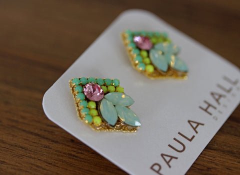 Clip-On Floral Delights in Pink and Green