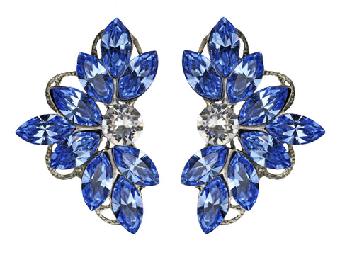Clip-On Leaf Motif in Light Sapphire
