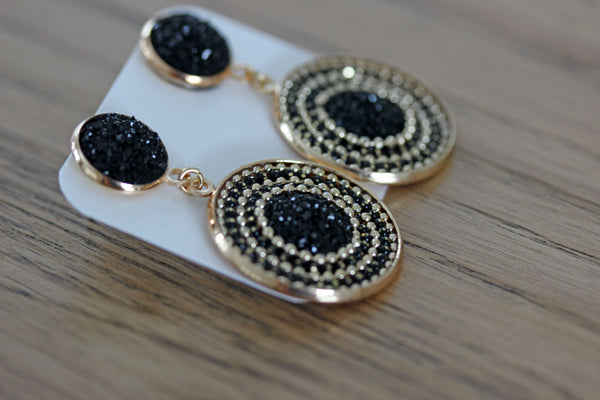 Lucent Drop Earrings in Black
