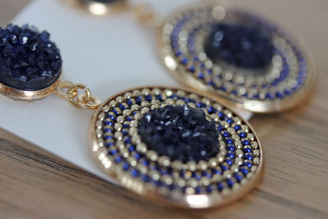 Lucent Drop Earrings in Navy