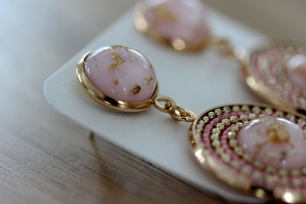 Lucent Drop Earrings in Pink