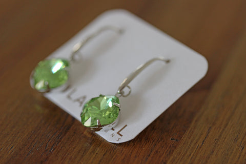 Solitaire Drops in Light Green