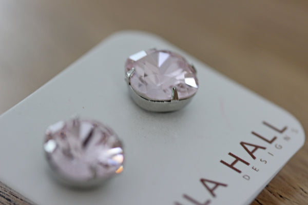 Solitaire Studs in Blush