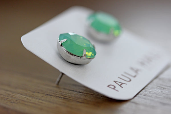 Solitaire Studs in Pacific Opal