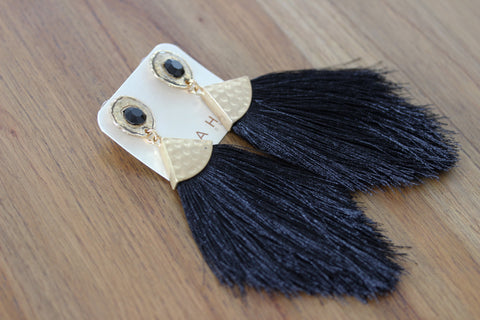 Strut like a Peacock Tassels in Black
