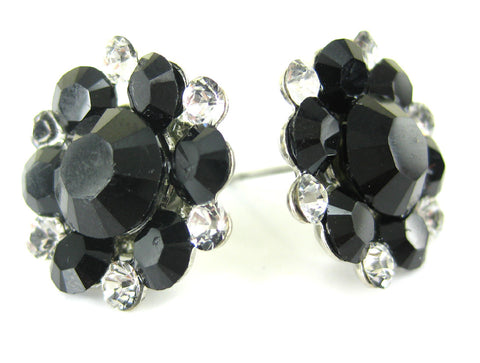 Classic Stud Cluster in Black and Crystal