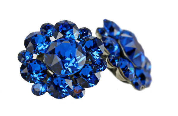Clip-On Stud Cluster in Capri Blue