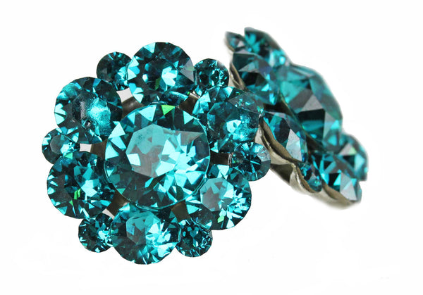 Clip-On Stud Clusters in Blue Zircon