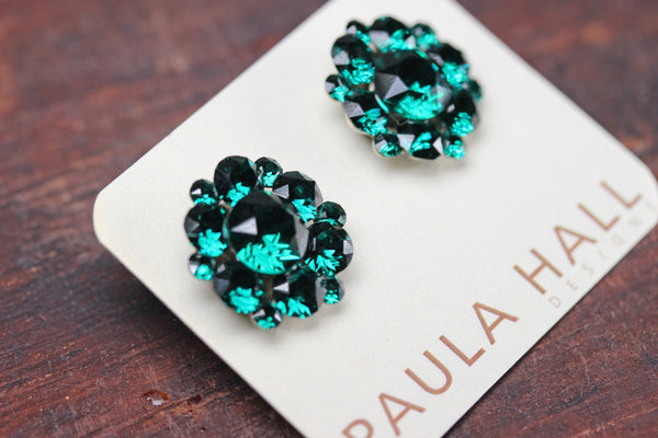 Clip-On Stud Clusters in Emerald