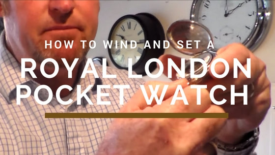 how to wind and set a pocket watch