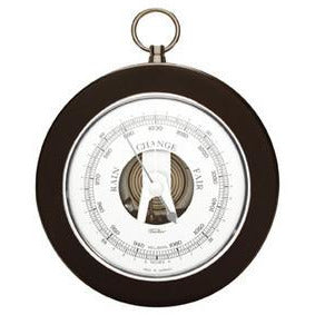 Modern Black & Chrome Fischer Barometer 1366rs-06
