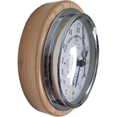 Wall Ash and Chrome Tide Clock