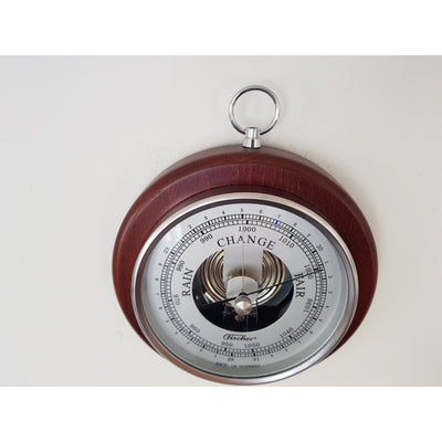 Wood and chrome barometer
