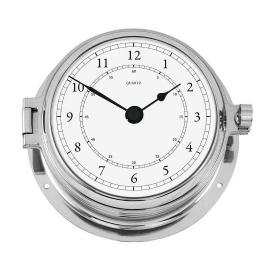 Solid chrome Marine Clock