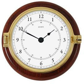 Solid Brass and Timber Fischer Clock 1612U-22