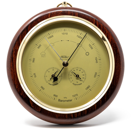 Mahogany and Brass Weatherstation