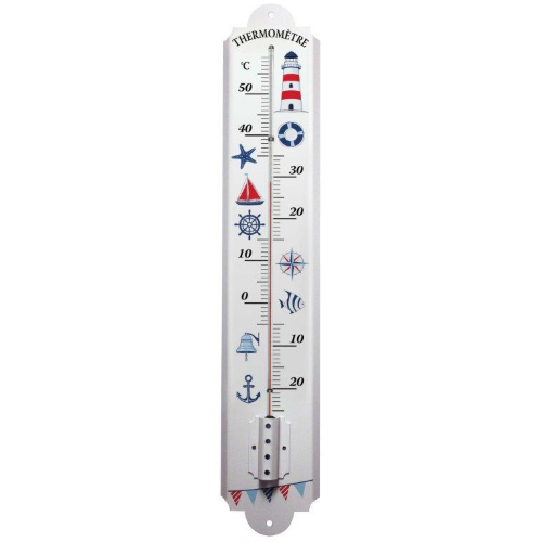 Large Stick Thermometer on Metal base
