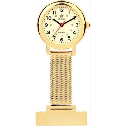 Gold plated nurses watches with second hand