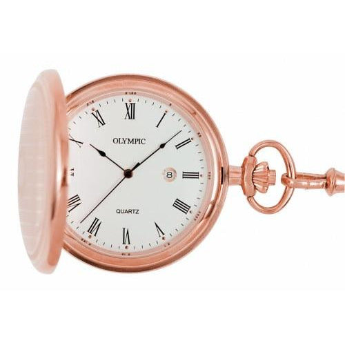 Stylish Rose Gold Pocket Watch