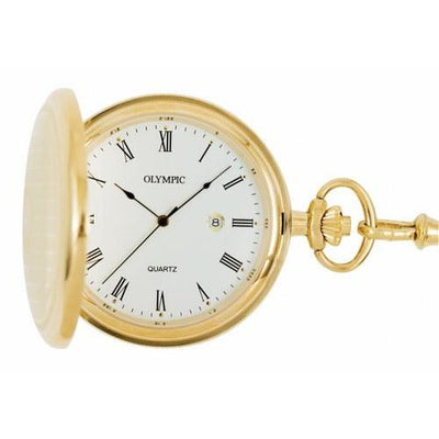 Stylish Olympic Gold Pocket Watch