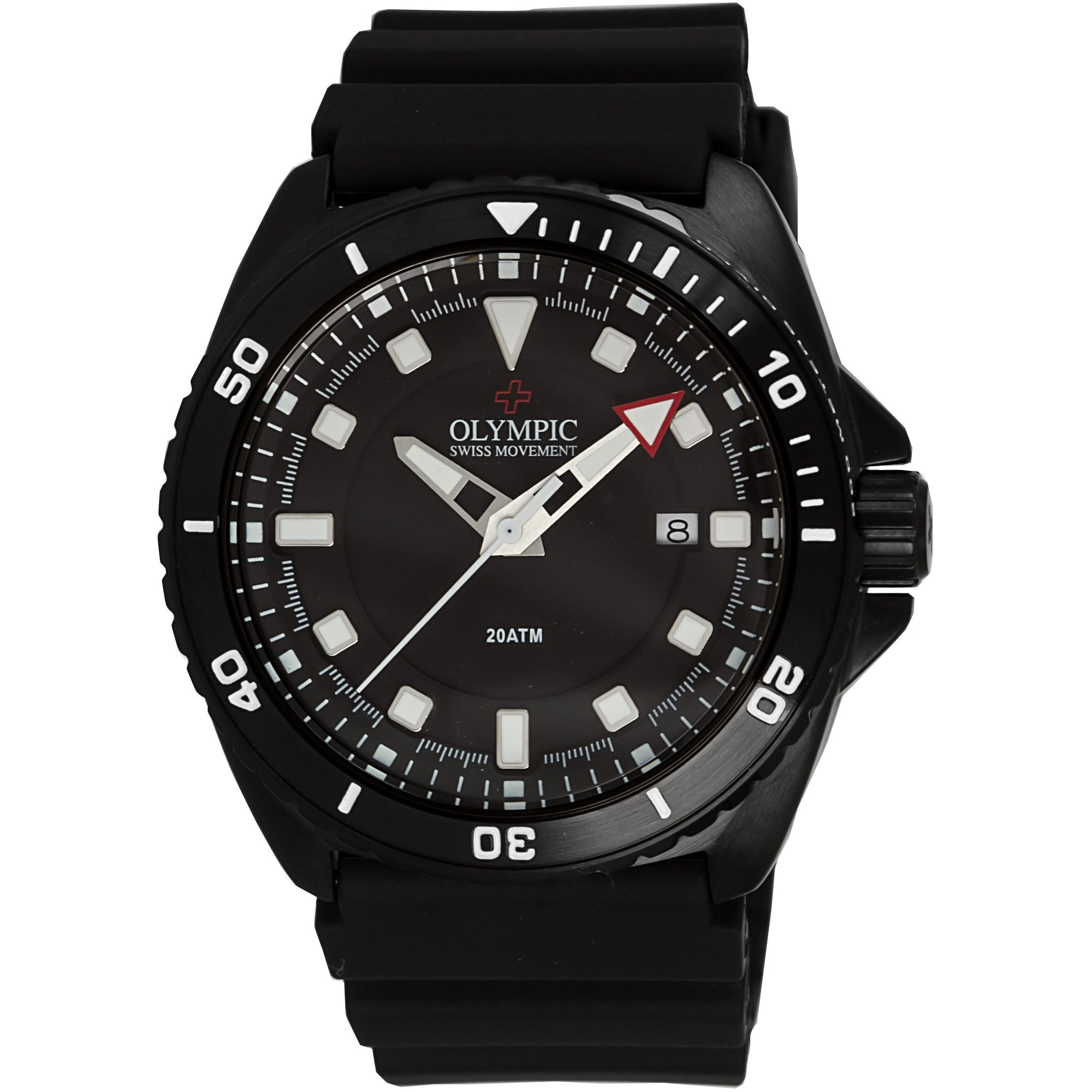 Olympic 200m Divers Steel Watch - Black edition