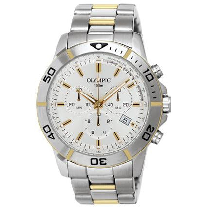 Chronograph two tone gents watch