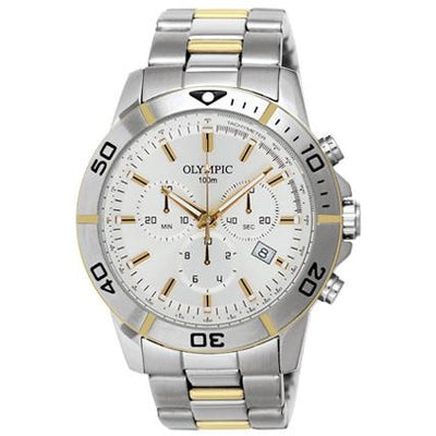 Olympic Chronograph two tone gents watch 27320