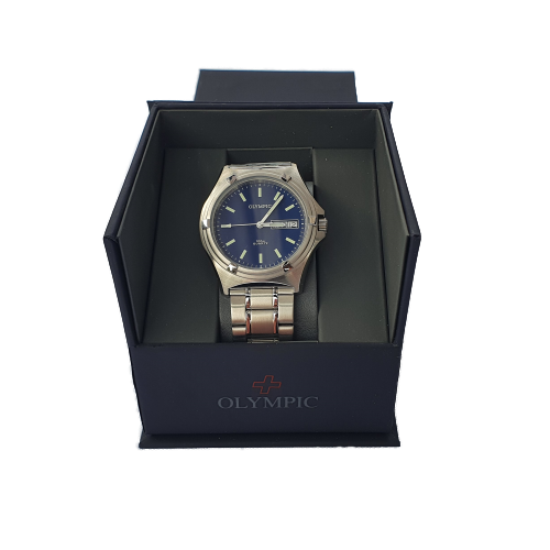 Men's Olympic Work Watch - Blue -Baton Hands