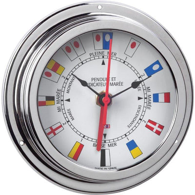 Chrome Tide Clock & Clock