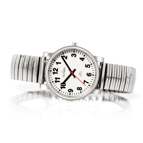 Easy to read stylish steel ladies watch
