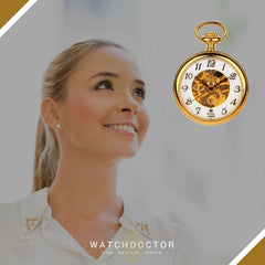 Men's and Ladies Gold Pocket Watch 90002.02