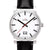 Unisex Steel watch with bolds hands and batons 29100