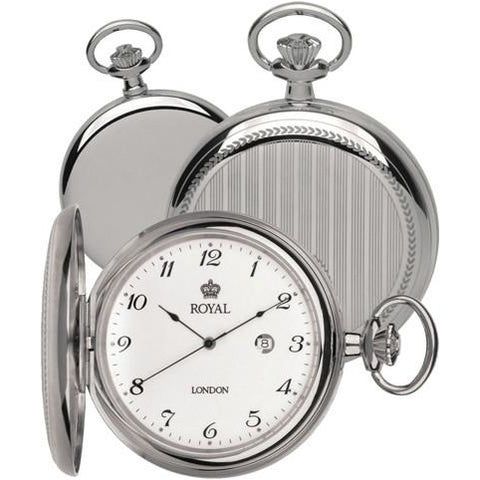 Royal London Stainless Steel Pocket Watch 90000.01