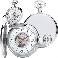 Royal London Mechanical Silver Pocket Watch 90004-02