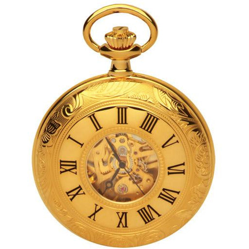Half Hunter Gold Pocket Watch
